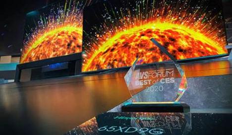 AVSForum premia la tecnología, el diseño y el desarrollo del ULED XDG9 de Hisense como 'Lo mejor de CES 2020'