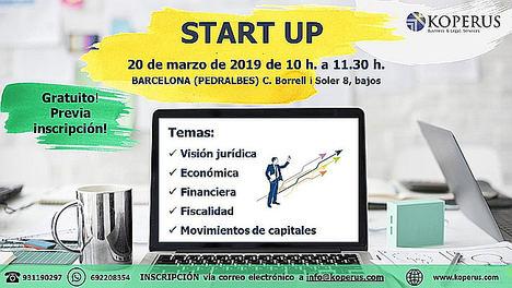 'START UP', Una jornada jurídico-económica organizada por el despacho internacional de abogados KOPERUS BLS