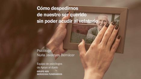 Grupo ASV Servicios Funerarios lanza una iniciativa de apoyo Psicológico durante esta crisis