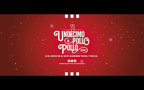 KFC invitará a #PolloPollo a toda España si el 'Gordo' de la Lotería coincide con su número de la suerte, el 11