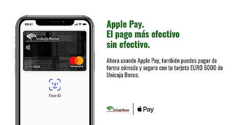 Apple Pay, ya disponible para clientes de Unicaja Banco