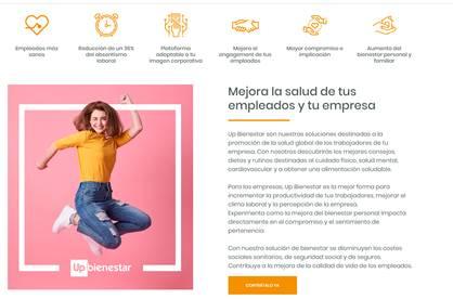 Up SPAIN ofrece los servicios de Wellwo bajo la marca Up Bienestar para mejorar la salud de los trabajadores