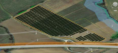 Parque Fotovoltaico en 3D.