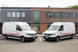 Seis Volkswagen E-Crafter electrifican la flota de Sorigué