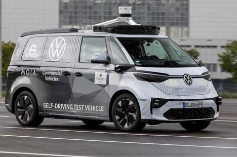 Volkswagen Vehículos Comerciales muestran el prototipo del ID.Buzz autónomo