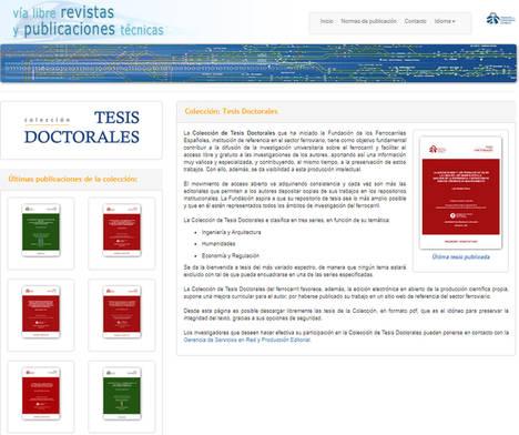 Vía Libre Técnica publica tres nuevas tesis en temas ferroviarios