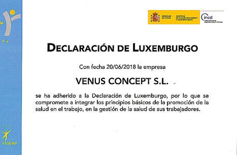 Venus Concept España se adhiere a la declaración de Luxemburgo