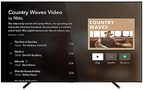 La app de Tidal, disponible en Samsung TV