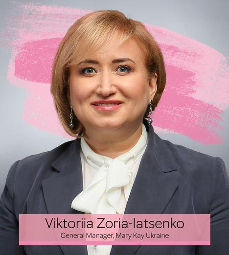 Viktoriia Zoria-Iatsenko, Directora General de Mary Kay Ucrania.