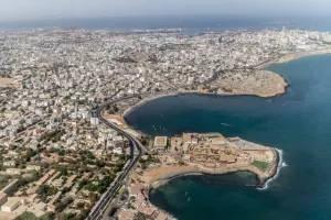 Vista aérea de la ciudad de Dakar