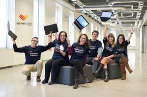 Voluntarios Telefónica para amplificar el #givingtuesday
