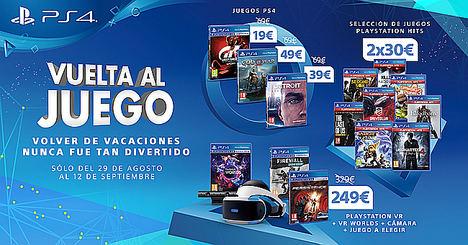 PlayStation® pone en marcha la promoción 'Vuelta al Juego' con importantes ofertas