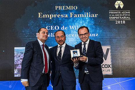 Wilcox recibe el Premio Empresa familiar que concede AEDHE