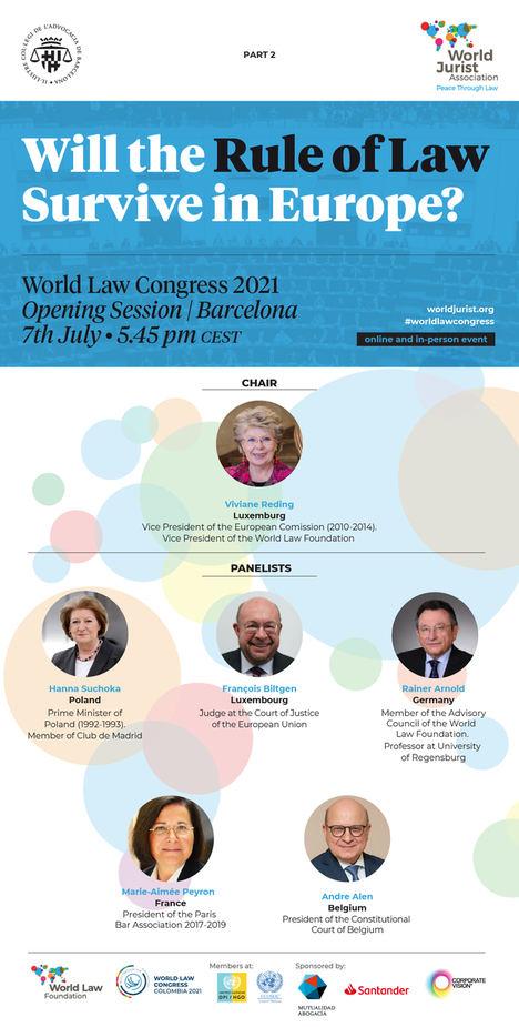 La World Jurist Association inaugura el World Law Congress con la celebración de sesiones previas online