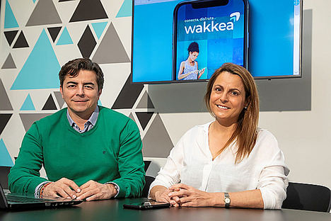 María Villaronte y Javier Bercial, fundadores de Wakkea.