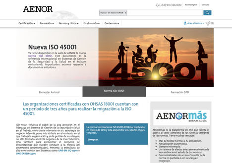 Los servicios de AENOR, más cerca con su nueva web