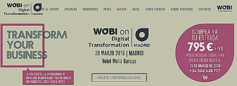 "Wobi presenta por primera vez en Madrid ""Wobi on Digital TRANSFORMATION"""