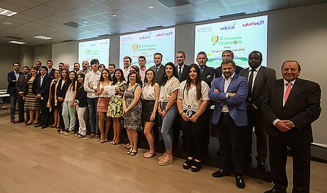 El Proyecto Edufinet de Unicaja premia los mejores trabajos de educación financiera en su X Olimpiada