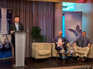 Xincun Liu, ZTE Managed Services Southern Europe, en la presentación en Gijón.