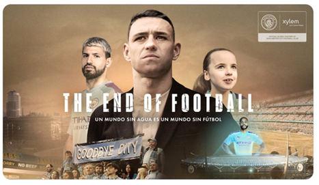 Xylem y el Manchester City alertan sobre la escasez de agua con la campaña 'El final del fútbol'