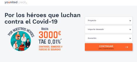 Younited Credit apoya a los trabajadores que luchan en primera línea contra el Covid-19, con un préstamo a tipo de interés del 0.01% TAE[1]
