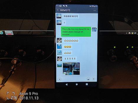 ZTE marca un nuevo hito en 5G con la realización de una llamada, internet y conexión Wechat