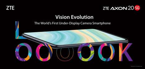 ZTE presenta el Axon 20 5G, primer smartphone del mundo con cámara selfie bajo la pantalla