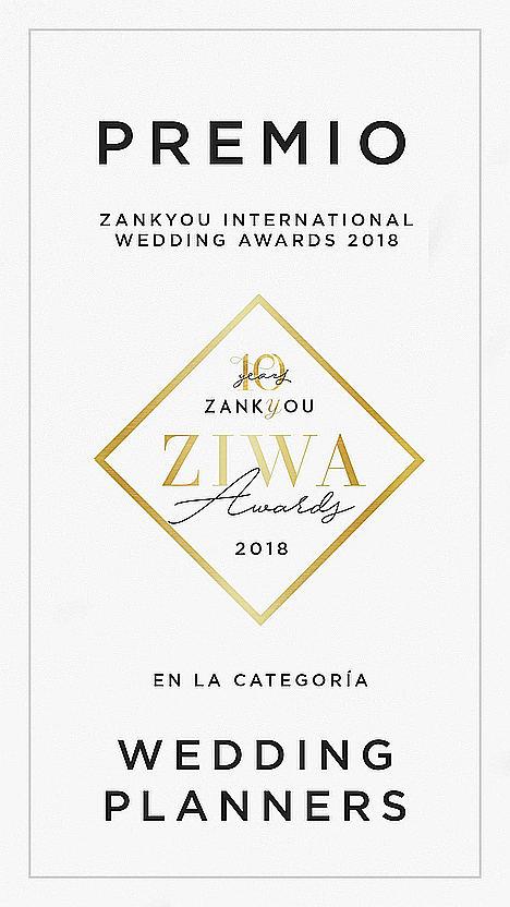 Imagina tu boda Wedding Planner galardonada en los premios internacionales ZIWA 2018