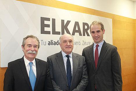 De izqda. a dcha.: Pío Aguirre, Josu Sánchez y Zenón Vázquez.