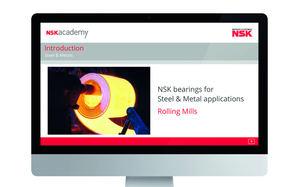 Rodamientos para trenes de laminación: nuevo módulo de formación online disponible en la NSK Academy