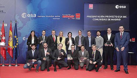 Cifuentes presenta el Centro de Incubación de Empresas de la Agencia Espacial Europea en Madrid