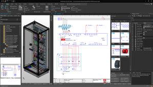La nueva Plataforma EPLAN 2022 cuenta con una interfaz de usuario totalmente nueva. La práctica barra de herramientas multifuncional con la moderna tecnología de cinta se adapta a la aplicación de manera flexible.