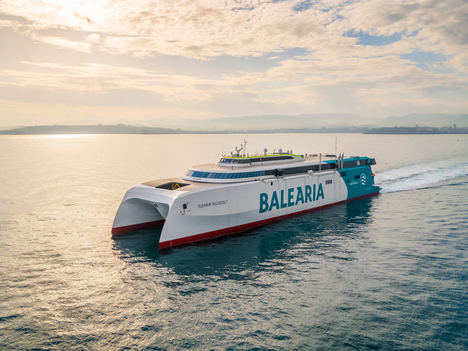 Baleària incorporará a la ruta Dénia-Ibiza-Palma el primer 'fast ferry' del mundo con motores a gas natural