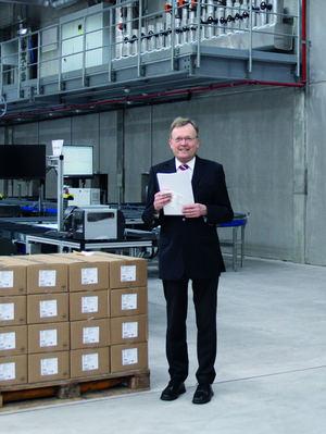 Gran compromiso de los miembros del proyecto: El director general de NORD, Ullrich Küchenmeister, agradeció a todos los involucrados por su compromiso en la construcción del nuevo almacén de piezas pequeñas.