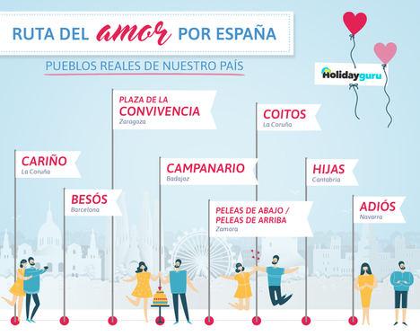 Del 'Cariño' gallego al 'Adiós' navarro: descubre la Ruta del amor por España