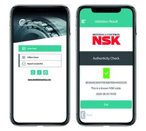 NSK ha unido fuerzas con la WBA para crear una aplicación para detectar las posibles falsificaciones que afectan a múltiples fabricantes.