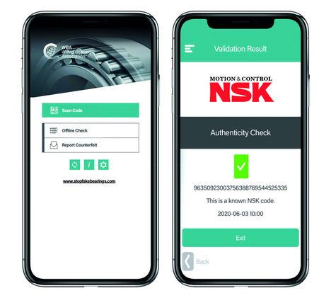 Las iniciativas de NSK combaten la fabricación de rodamientos falsificados