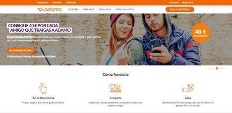 La operadora Adamo multiplica sus clientes digitales con una campaña de referral marketing