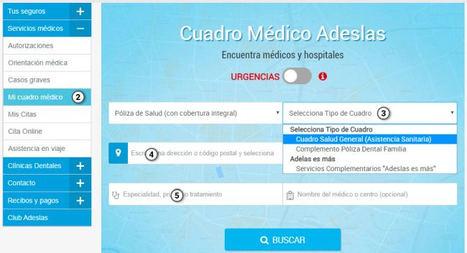 Todo el Cuadro Médico de Adeslas, a disposición de sus usuarios por teléfono o por Internet