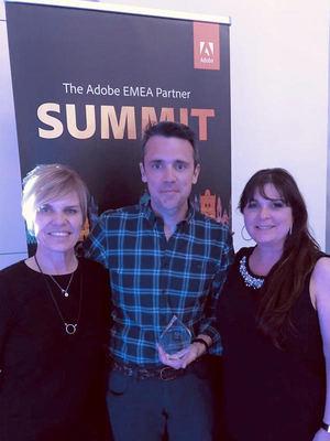 GTI recibe de la mano de Adobe el premio al distribuidor Educativo 2019
