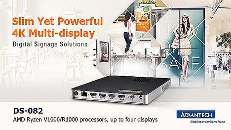 Advantech presenta el nuevo reproductor digital DS-082, altas prestaciones, 4K, y formato plano