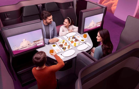 Qatar Airways QSuite.
