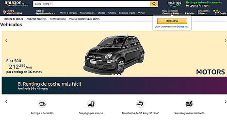 Amazon.es lanza 'Motors' - renting de coches online