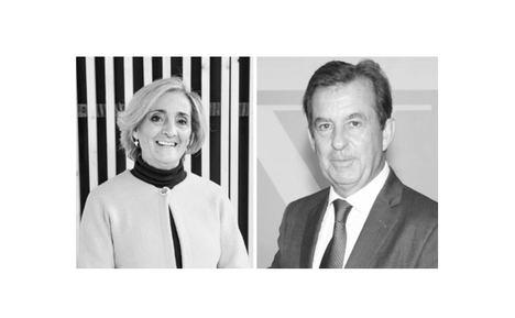 Dra. Rafaela Santos, Presidenta del Instituto Español de Resiliencia, y Carlos del Álamo, ex Presidente del Instituto de la Ingeniería de España.