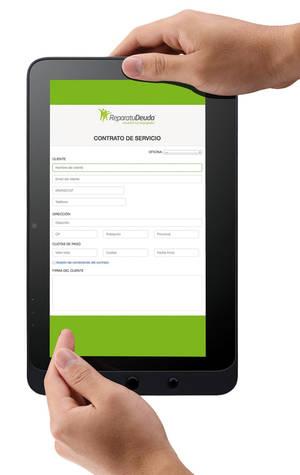 ReparatuDeuda lanza una aplicación digital de contratación de servicio en TABLET