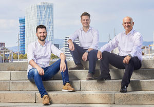 Enric Aparici, director general (centro), Albert Bosch, socio y advisor (izqda.) y Francisco Morán, CEO (dcha.).