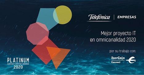 La banca telefónica del Grupo Ibercaja recibe un premio por su estrategia digital omnicanal gracias a Telefónica y Unify