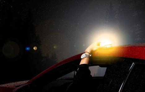 ¿Qué beneficios tienen las luces V-16 cuando se conduce con niños?