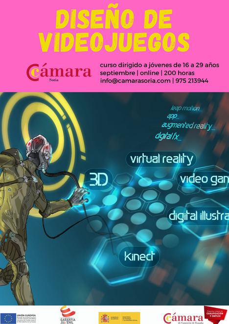 El curso gratuito de diseño de videojuegos organizado por la Cámara de Soria comenzará a finales de septiembre