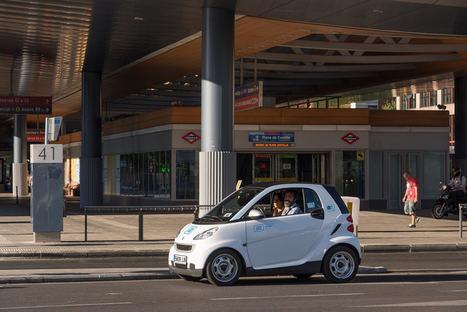 ¿Cuándo y dónde se utiliza más el carsharing en Madrid?